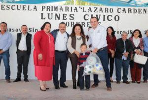 Lunes Cívico en la Escuela Primaria Lázaro Cárdenas