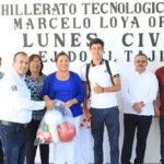 El Ayuntamiento apoyará con equipo de cómputo al CBTA No. 260 de El Tajito