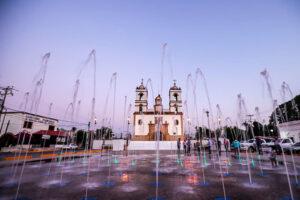Invierten 394 mil pesos en rehabilitación de la fuente de la Iglesia del Rosario