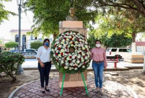 Conmemoran el 425 aniversario de Guasave con ofrenda a Hernando de Villafañe