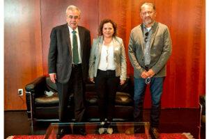 La alcaldesa gestiona en la CDMX recursos para colector norte y otras obras