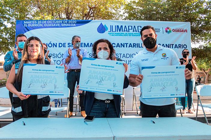 El Municipio invierte 1.69 MDP en ampliación del sistema de alcantarillado en El Burrión