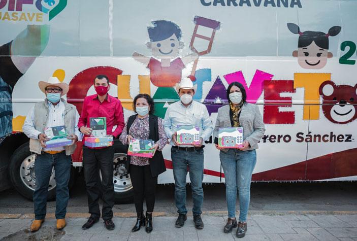 La Caravana Guasavetón 2020 lleva juguetes y alegría a todo el municipio