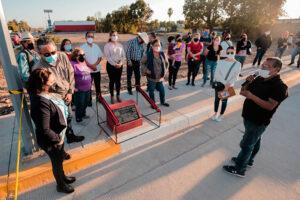 La alcaldesa inaugura pavimentos de concreto hidráulico del Programa CAPUFE Municipal 2020
