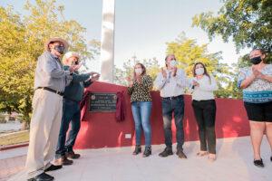 La alcaldesa Evangelina Llanes inaugura las plazuelas de Gambino y de la sindicatura de Nío